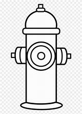 Hydrant Fire Coloring Fireman Hat Clipart sketch template