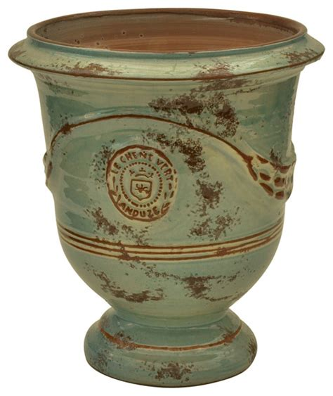 outdoor vase planters vase anduze celadon antique traditional outdoor