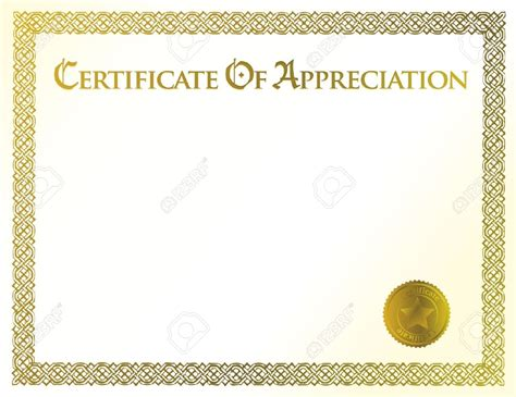certificate  appreciation blank templates affordable