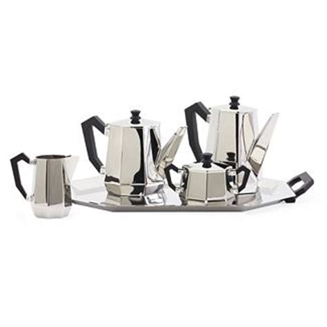 Alessi Ottagonale Tea and Coffee Set by Carlo Alessi   an