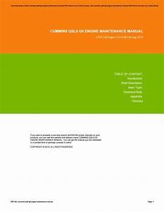 Cummins Qsl9 G5 Engine Maintenance Manual By