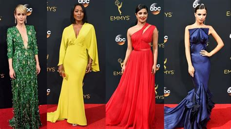 2016 Emmy Awards Red Carpet The Bestdressed Celebrities