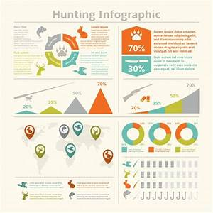 Hunting Animals Wildlife Fishing Infographics With