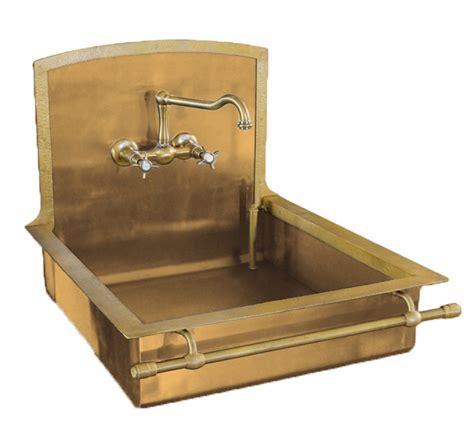 brass kitchen sink italian brass sink with towel bar by restart of florence