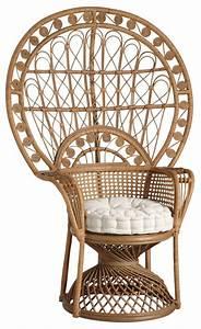 Fauteuil En Rotin : fauteuil emmanuelle en rotin aubry gaspard ~ Teatrodelosmanantiales.com Idées de Décoration
