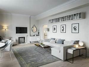 Idee deco salon le salon en style scandinave for Meuble de salle a manger avec tapis salon style scandinave