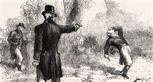 Image result for Alexander Hamilton, was killed by Vice President Aaron Burr in a duel.