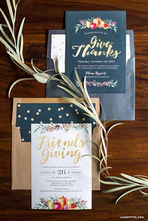 thanksgiving feast invitation lia griffith