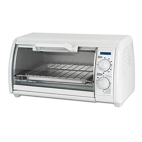 toaster bed bath and beyond black decker 4 slice toaster oven in white bed bath