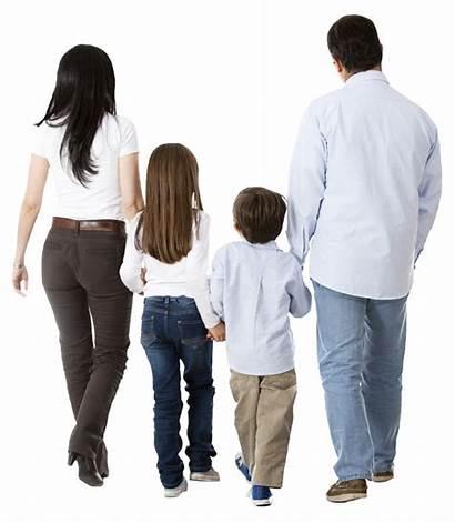 Photoshop Walking Cutout Personas Parents Familia Espaldas