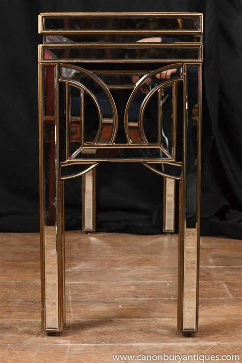 art deco mirrored console table hall tables  furniture