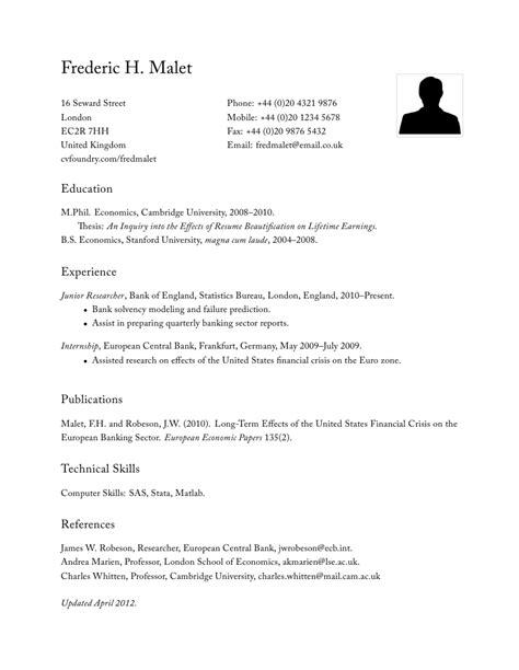 classic resume nxsone
