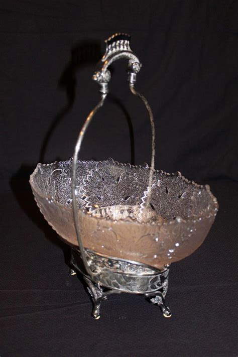 antique derby silver companydeleware glass brides basket