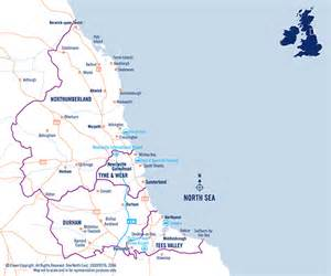 North East England Map