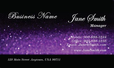 Makeup Artist Cosmetician Purple Beauty Glitter Business Business Card Printers Wirral Visiting In Udaipur Two Sided Glossy Paper Price Design Printer Sheets Printing Melbourne Cbd Dallas Tx Size Photoshop