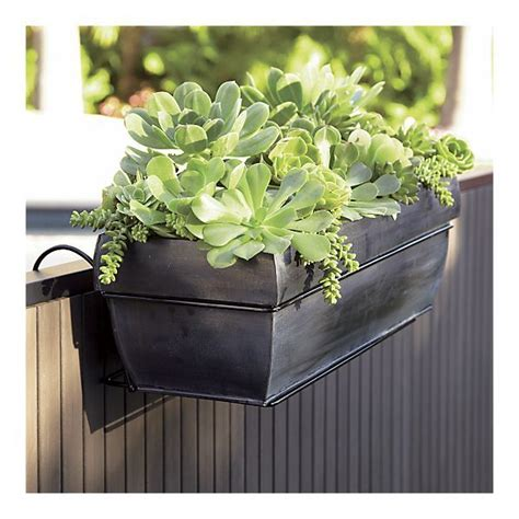 rail hanging planters these affordable zinc planters only 19 95 i can