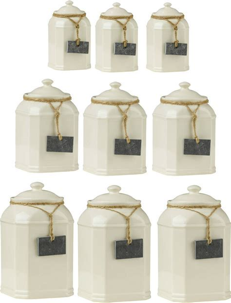 Storage Jars Tea Coffee Sugar Canisters With Slate Tag