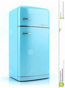 Retro Kühlschrank A : blauer retro k hlschrank 3d stock abbildung bild 40877785 ~ Orissabook.com Haus und Dekorationen