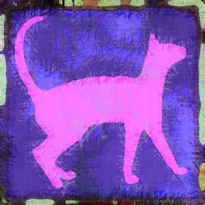 Abstract Digital Art Cat