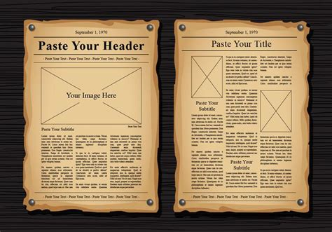 Classic Newspaper Template by Newspaper Vector Templates Free Vector