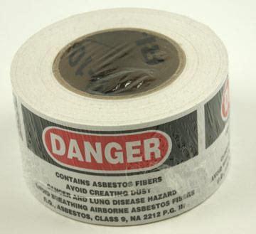 danger asbestos labels  rl
