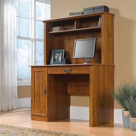 oak desk with hutch wood computer desk with hutch in abbey oak 404961