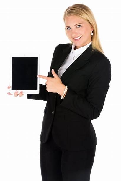 Woman Tablet Transparent