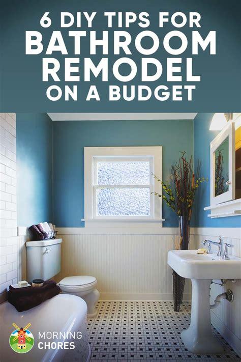 tips  diy bathroom remodel   budget   decor