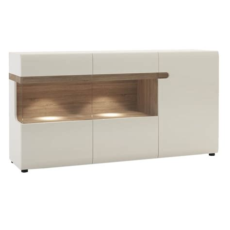 White Gloss And Oak Sideboard by Mode White Gloss Oak Sideboard Sideboards Free