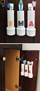 20 diy bathroom storage ideas for small spaces With best way to store toothbrush in bathroom
