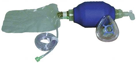 voice plasticrubber adult cpr bag valve mask bvm