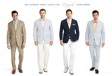 Garden Party Gentlemen  Male Wedding Guest Attire