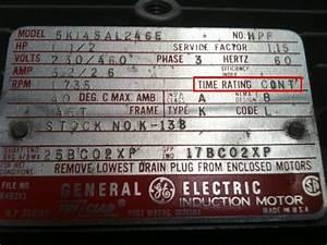 Science And Engineering  Motor Nameplate