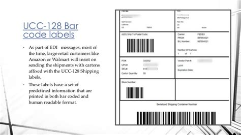 A gs1 128 shipping label is commonly broken down into various pre defined zones. How to print ucc 128 shipping labels