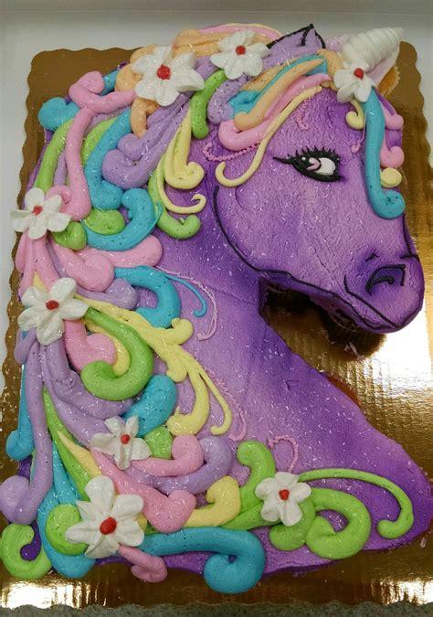 Sheet Unicorn Rainbow Birthday Cake