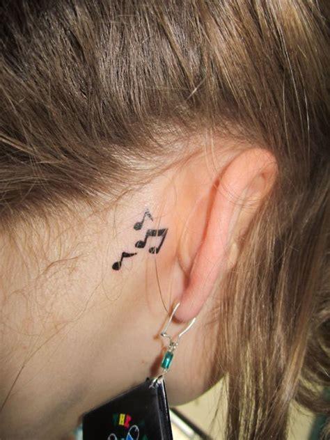 ear  notes tattoos pinterest