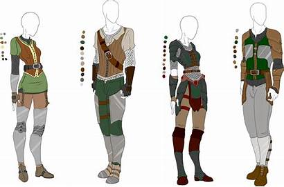 Armor Outfit Anime Leather Clothes Adopts Middle