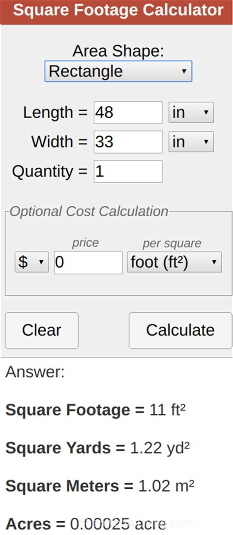Top 28+  Square Foot Calculator  28 Best Square Foot