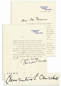 lot detail clementine churchill typed letter signed to With churchill letters