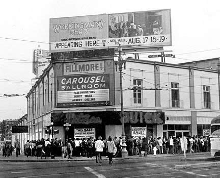 San francisco shares its homegrown bands. Fillmore West in San Francisco. Many famous rock bands performed here in the 60's.   Fillmore ...