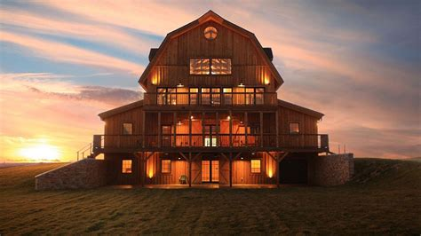 barn wood home great plains gambrel barn home project