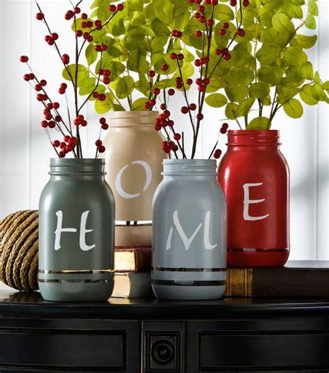 home painted mason jars diy home decor idea  atj