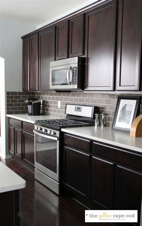 dark tile light grout kitchen backsplash bruin and