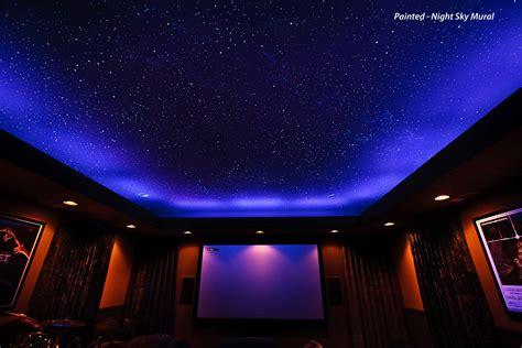 Sky Ceiling by Ceiling Fiber Optics Or Painted Sky Murals