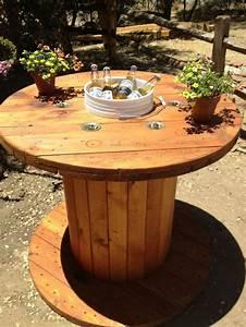 Mesas de carretéis de madeira Joia de Casa