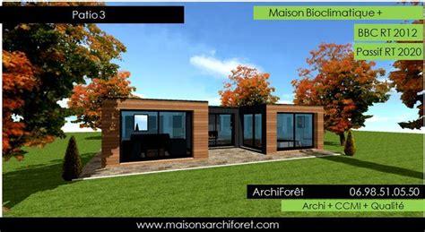 constructeur maison bois 17 patios maison avec patio par architecte constructeur ossature bois du plan de permis de