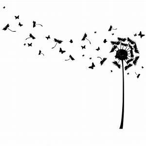 Bild Pusteblume Schwarz Weiß : pusteblume mit wegfliegenden schmetterlingen launinchen unikate f r gro klein ~ Bigdaddyawards.com Haus und Dekorationen