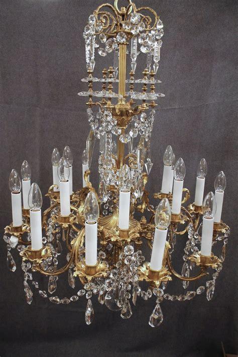 lustre en bronze et cristal de baccarat 233 poque xixe