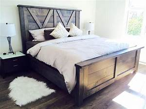 beautiful barn door style farmhouse bed beautiful beds With barn style bed frame