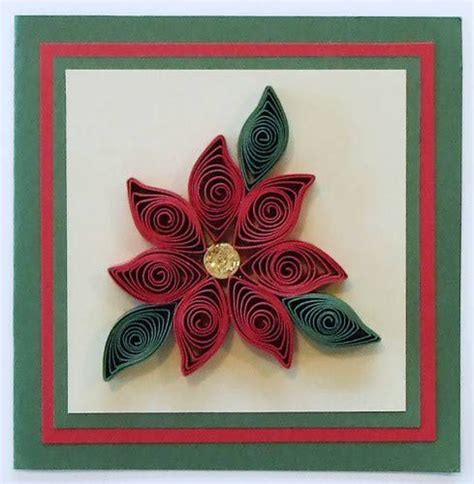 rolled paper poinsettia  scrapbooks  cards